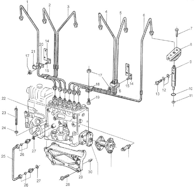 Топливная аппаратура в сборе WD615 EURO II