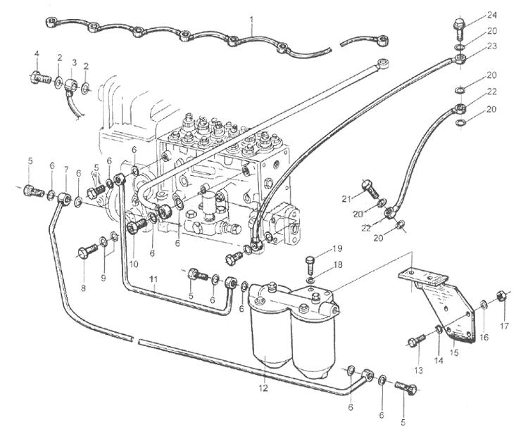 Топливопроводные трубки WD615 EURO II