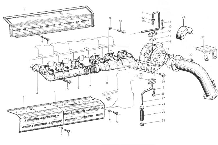 Коллектор подачи воздуха WD615 EURO II