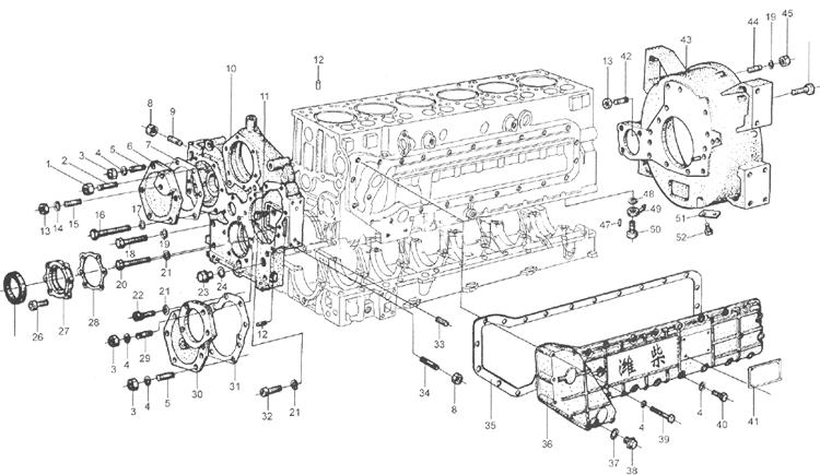 Блок цилиндров WD615 EURO II