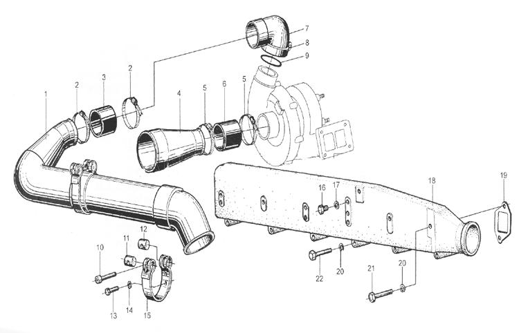 Воздухопровод компрессора WD615 EURO II