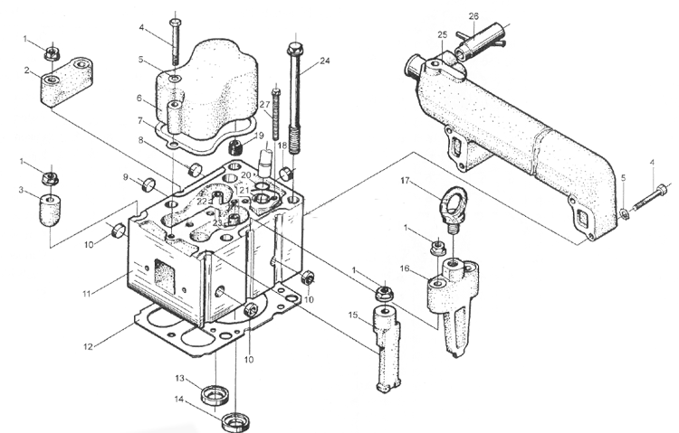 Головка блока цилиндров WD615 EURO II