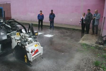 Фреза Simex в работе на тракторе МТЗ