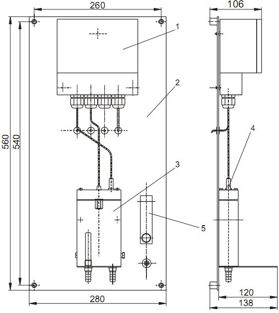 Габаритные размеры панели ГП-4131