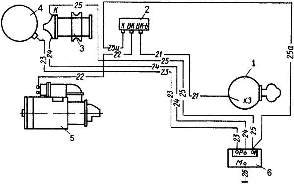 Схема контактно-транзисторної системи запалювання