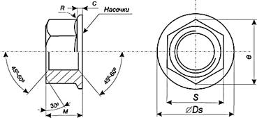 Картинки по запиту Гайки DIN 6923 шестигранні з фланцем