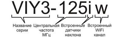 пример информации для заказа георадаров серии VIY3