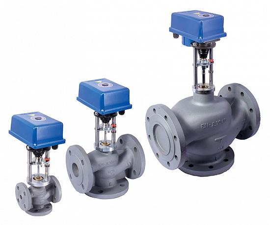 Клапаны трехходовые регулирующие ВКТР с электроприводом