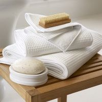 вафельные банные полотенца