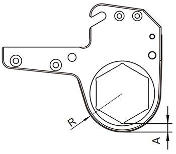 Сменная кассета гидравлического гайковерта ГГМК - схема