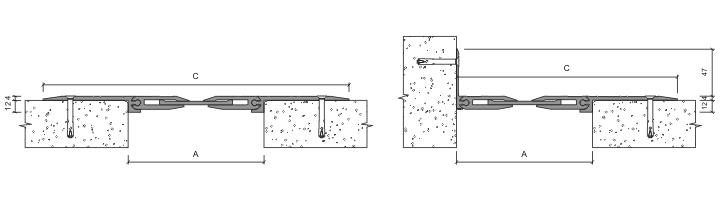 Монтаж накладного профиля для деформационного шва
