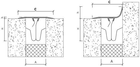 Схема установки деформационного шва АКВАСТОП ПСА на клипсы