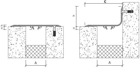 Схема установки деформационного шва АКВАСТОП ПСА на дюбель