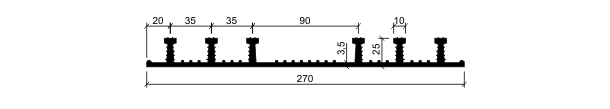 Гидрошпонка ХО-270-6/25