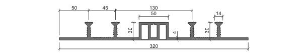 Гидрошпонка ДОМ-320/50-4/30