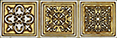 Aparici Enigma +13284 Бордюр керамич. SYMBOL GOLD CF, 6,5x20