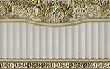 Aparici Elegy +15270 Бордюр керамич. CHISEL GOLD ZOCALO, 20x31,6