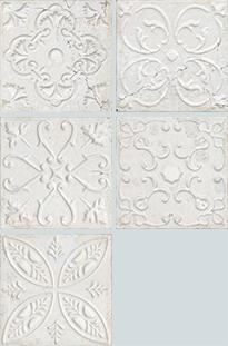 Aparici Aged +22479 Плитка облиц. керамич. AGED WHITE ORNATO, 20x20