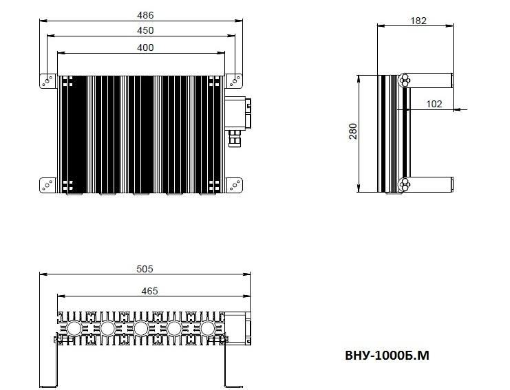Модернизированный взрывозащищённый нагреватель ВНУ-1000В.М