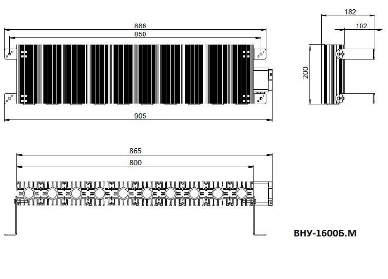 Модернизированный взрывозащищённый нагреватель ВНУ-1600Б.М