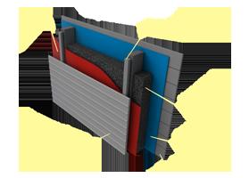 Применение материала «Brane B»  в конструкциях стен с наружным утеплением
