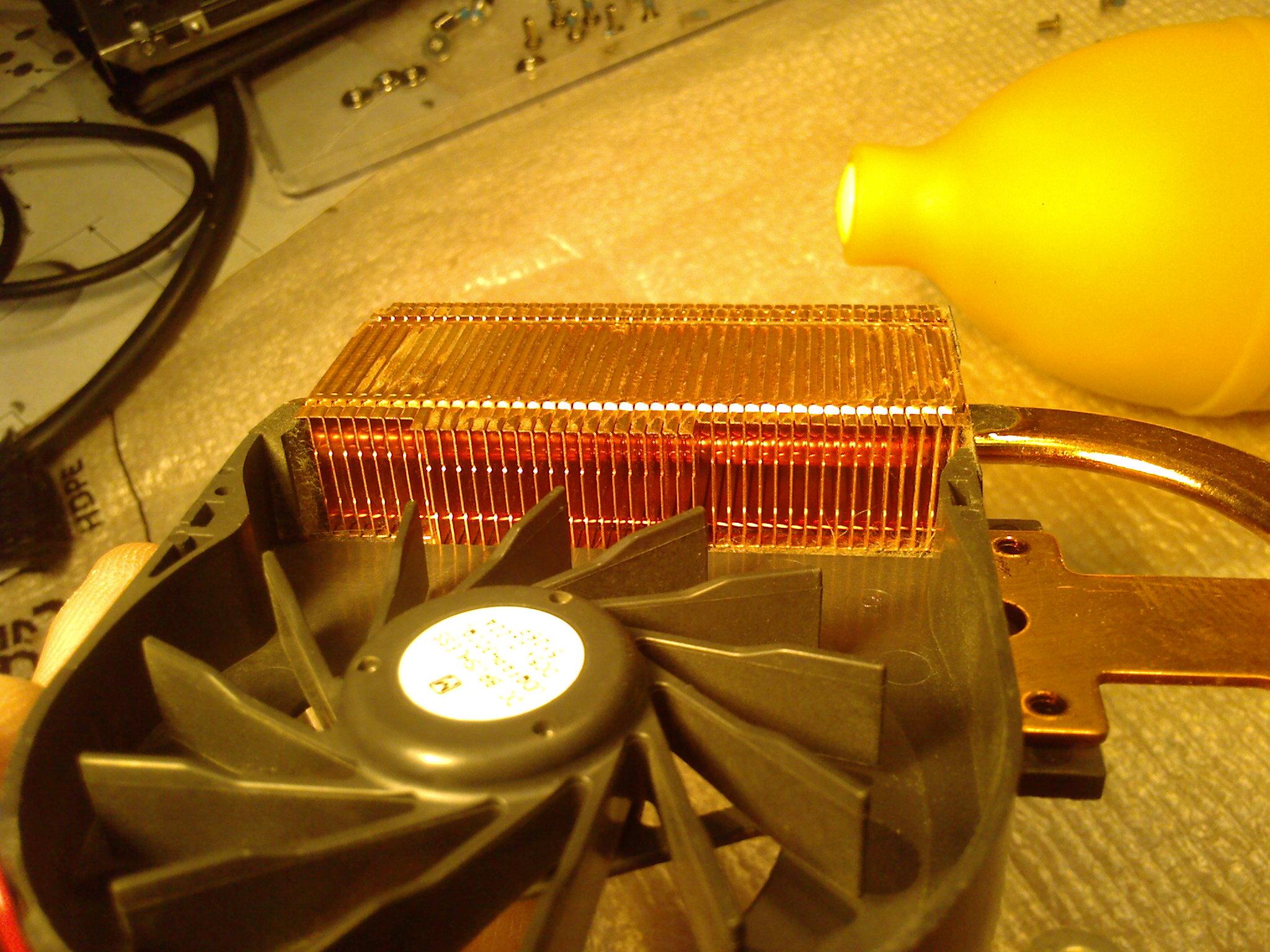 Система охлаждения ноутбука после чистки
