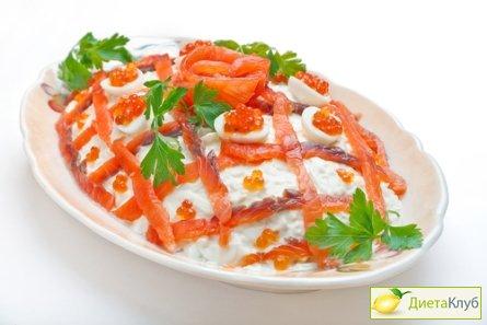 рецепт салату з червоною ікрою