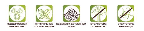 Торфяной субстрат для цветов ECO PLUS