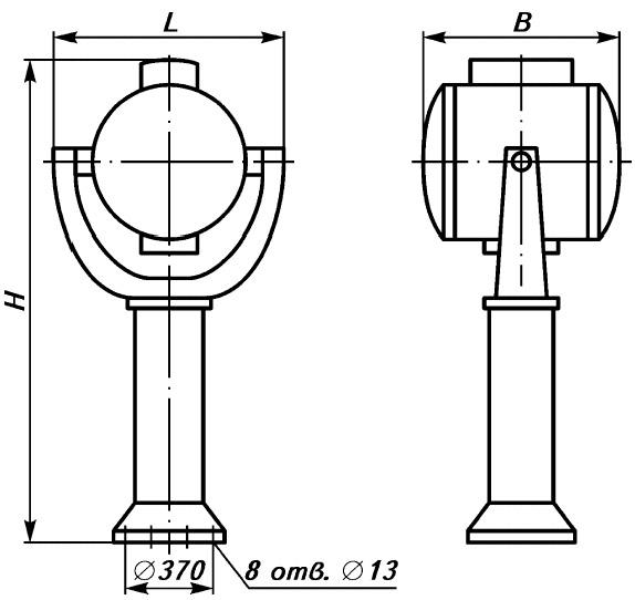 Прожектор судовой морской речной ПНК-60-1, МСПл 45/2, МСП-45К ЭКСТРАДЭН EXTRADEN