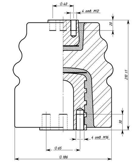 Ізолятор І25-125 I УХЛЗ