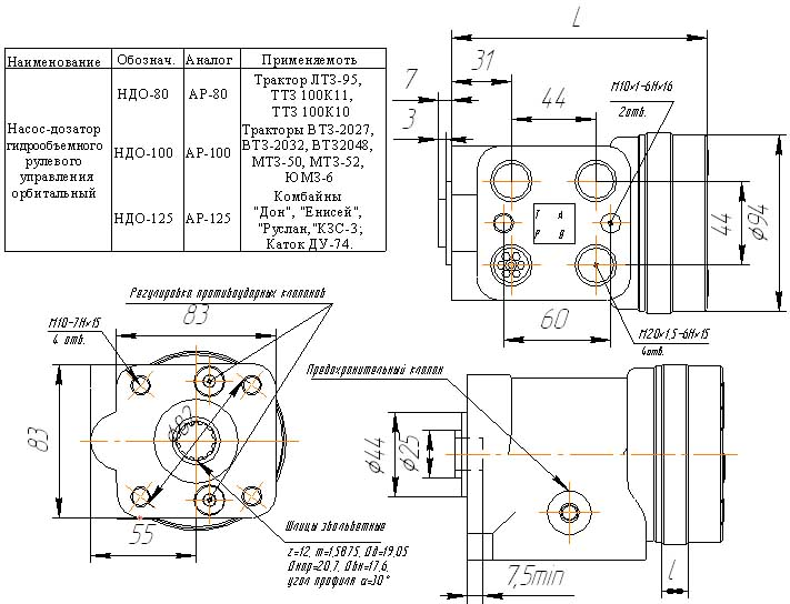 Насос-дозатор орбитальный НДО