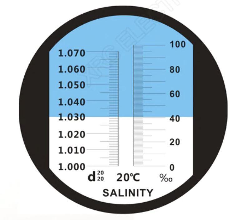 измерение солености рефрактометр