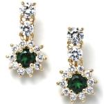 Золотые серьги-звёзды с изумрудами и бриллиантами Мэрилин Монро