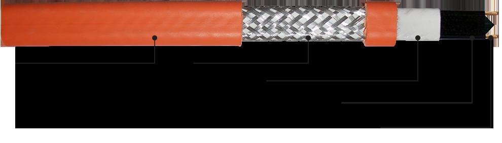 Саморегулирующийся греющий кабель SMS-CR. Конструкция