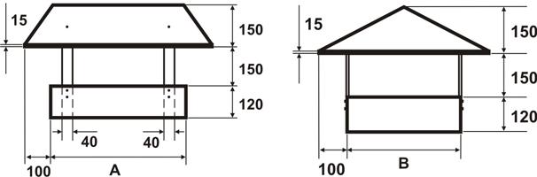 Шатровая флюгарка: размеры и  схема