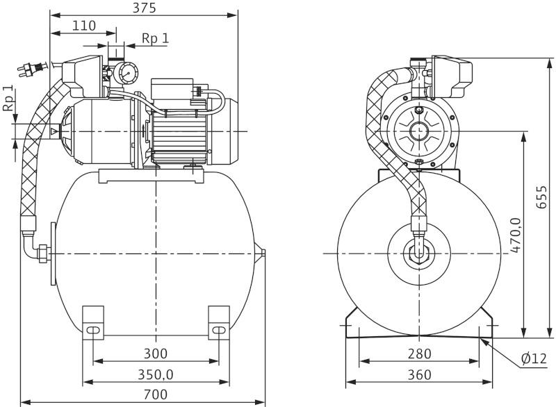 Насос Wilo-MultiPress HMP605 EM