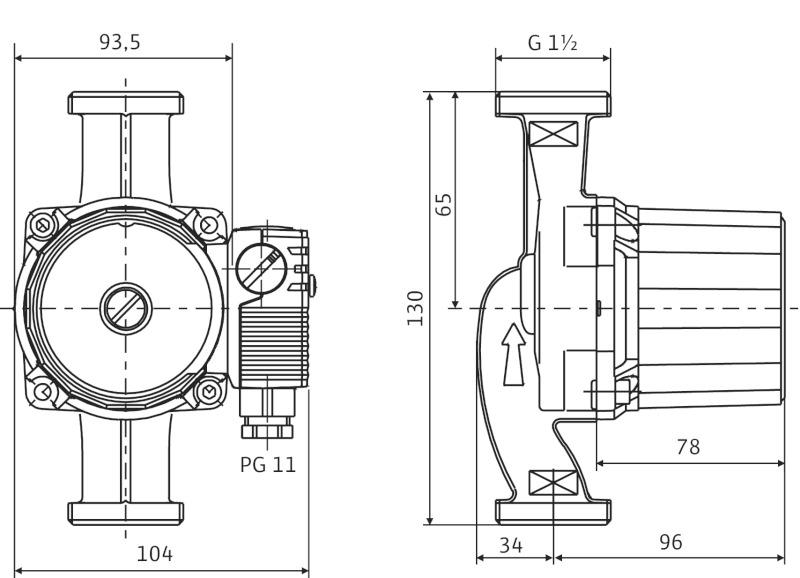 Насос Wilo Star-RS 25/4-130
