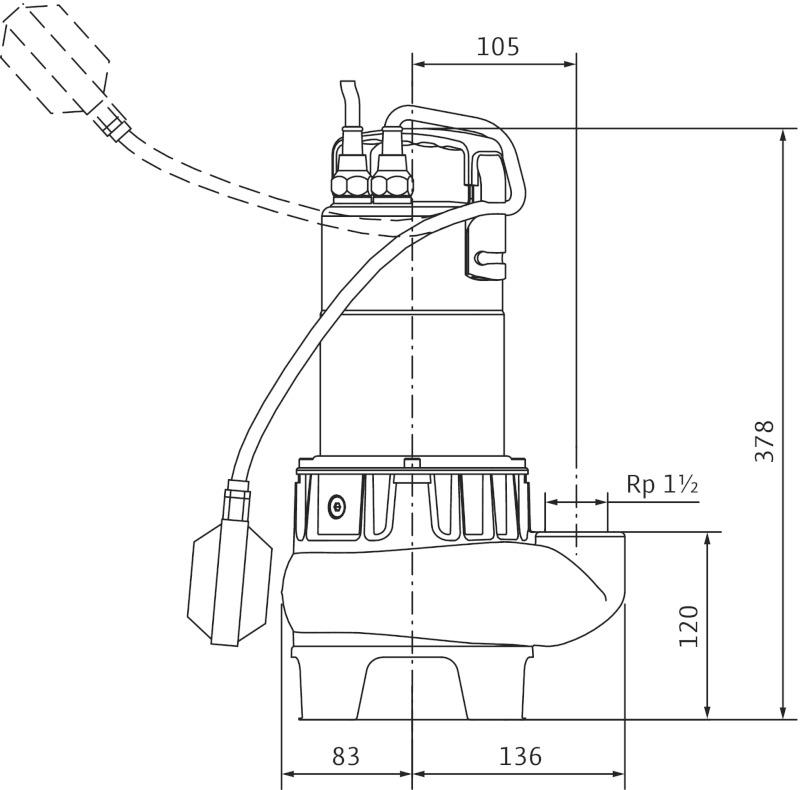 Погружной насос Wilo-Drain TC40/10-1-230/B