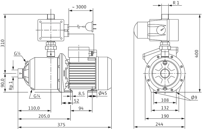 Насос Wilo-MultiPress FMP305 EM/2