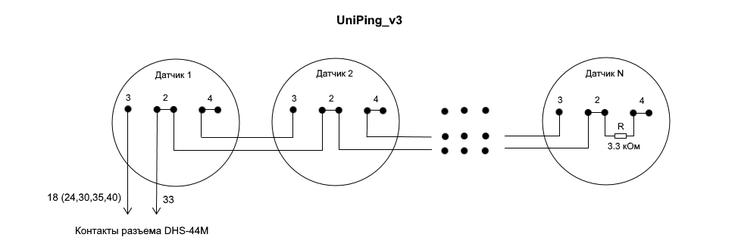 Подключение датчика дыма к UniPing v3