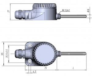 Датчик термосопротивление ДТС125Л. Конструктивное исполнение