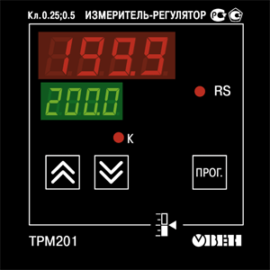 Элементы управления ОВЕН ТРМ201