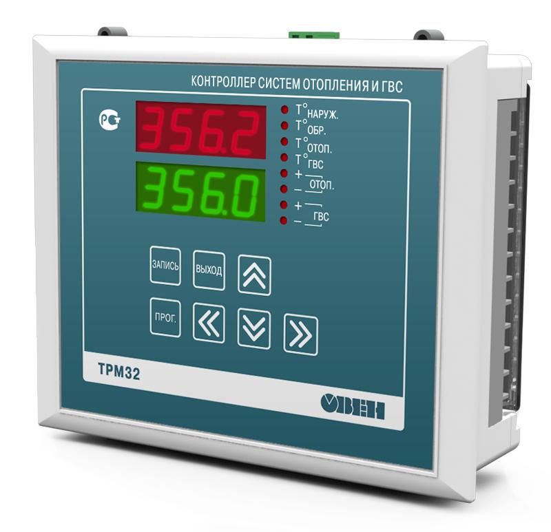 Промышленный контроллер для регулирования температуры в системах отопления ОВЕН ТРМ32