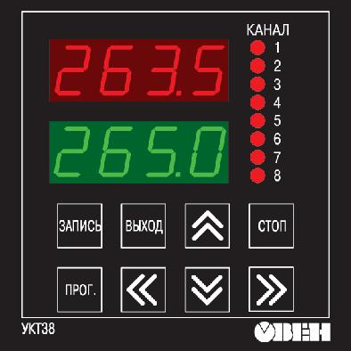 Устройство контроля температуры восьмиканальное с аварийной сигнализацией ОВЕН УКТ38-Щ4. Внешний вид
