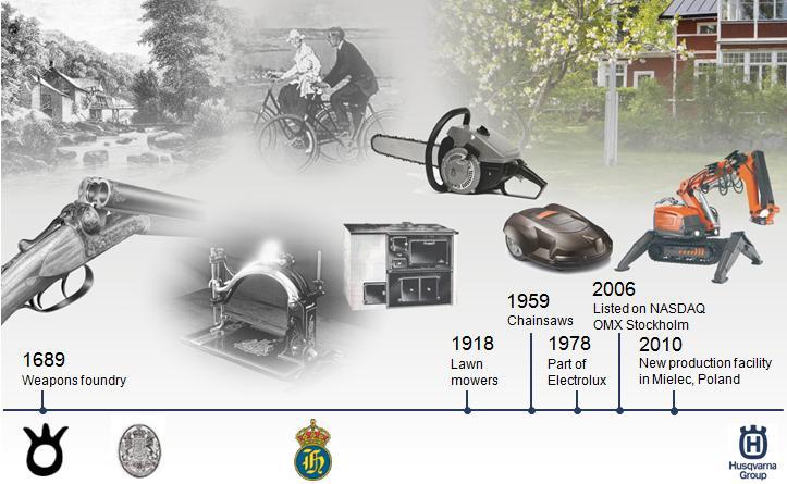 История шведской компании Husqvarna (Хускварна) насчитывет вот уже более 300 лет