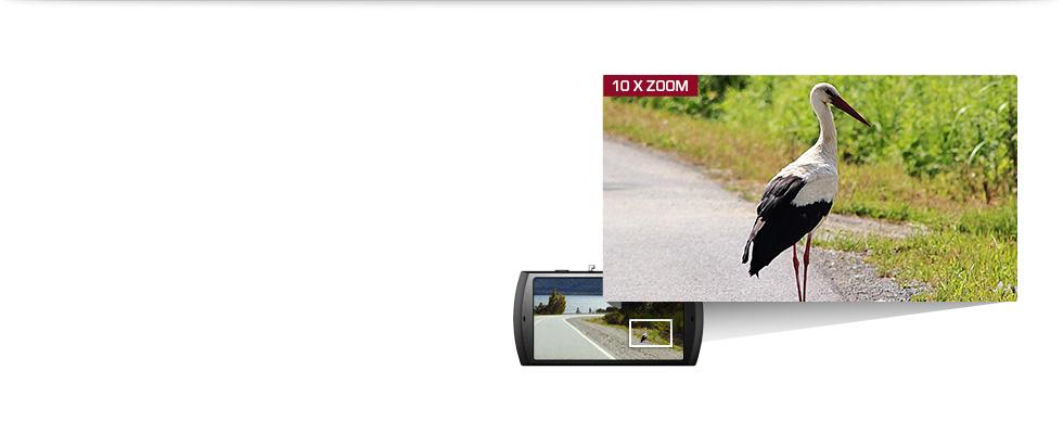 10-кратный зум  Широкий угол обзора в 170° и 10-кратный цифровой зум обеспечивают панорамный вид и максимальную детализацию.