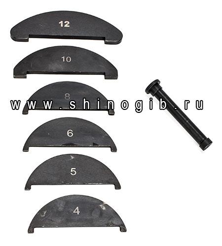 Вкладыши для шиногиба на ребро ШГГ-125Н-Р