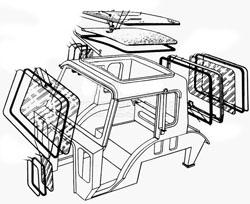 Кабина и навесное оборудование Т-40