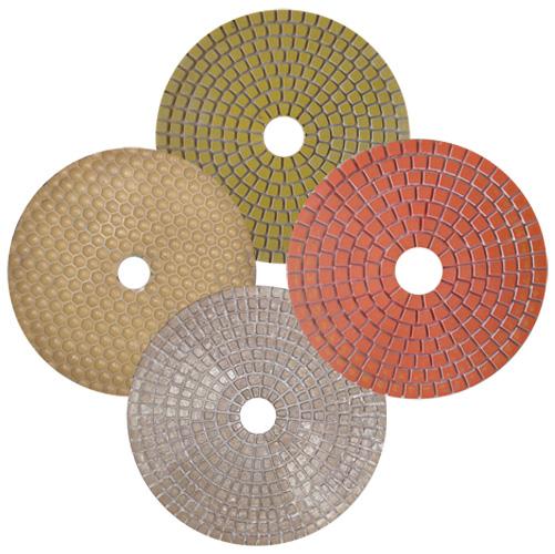 Пады СПЕКТРУМ алмазные гибкие, круги алмазные шлифовальные гибкие для шлифовки и полировки бетона, камня, мрамора, мраморной крошки