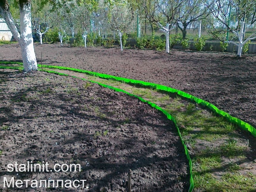 Бордюрна стрічка пластикова для саду виробництва ТОВ Металпласт (stalinit.com)